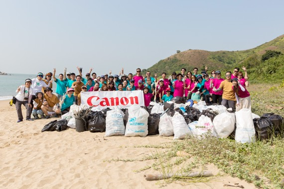 Annual Beach Clean–up Service  Canon Volunteer Team  proceed with determination in Saving the Environment