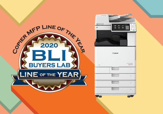 佳能第四年榮獲BLI獎項多功能打印機年度最佳產品線
