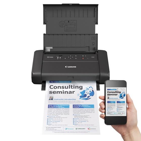 佳能推出全新PIXMA TR150 A4流動相片打印機