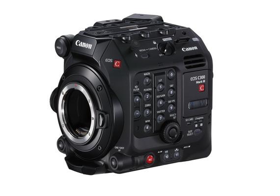 全新可換鏡專業級4K攝錄機EOS C300 Mark III 及廣角10倍電動變焦電影鏡頭CN10×25 IAS S