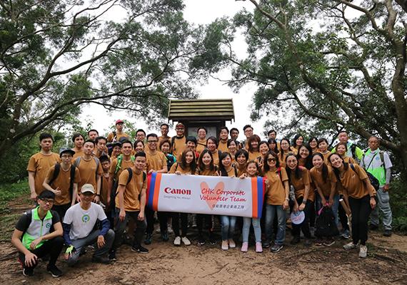 佳能香港全力支持「植林優化計劃」 合力為港建立原生樹林