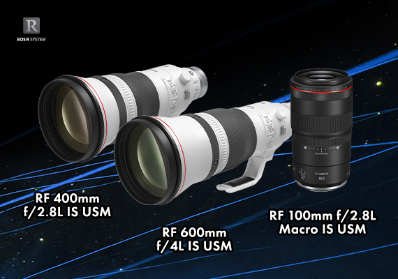 Canon Announces the Launch a Trio of New RF Lenses