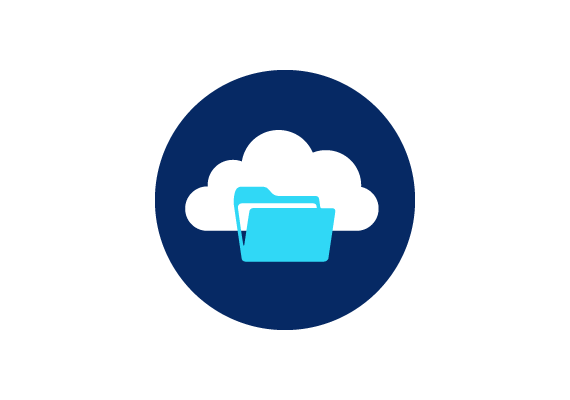 Scanning and MobileWork Promo Icon - Cloud Folder