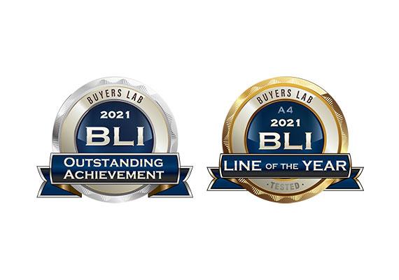 BLI 2021混合辦公室掃描技術傑出成就獎和A4 最佳產品線獎