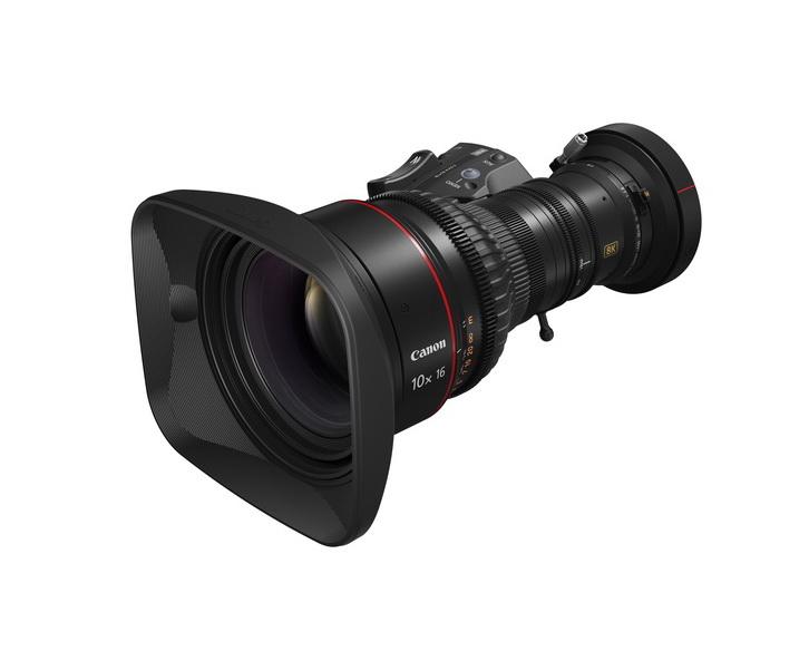 佳能發佈8K 便攜式變焦廣播超高清鏡頭10x16 KAS S